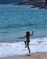 girl at Sand Beach