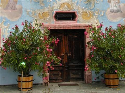 door of house in St. Johann