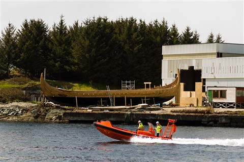 New Vikingship is born (Haugesund)