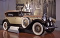 1930 Packard Custom Eight Phaeton - as seen with matching era wall mural at the Gilmore Car Museum.