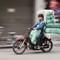 2014-03-28 Vietnam Hanoi Motorbike 5 Laden Sacks