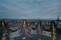 Paris at dusk from the Arc de Triomphe