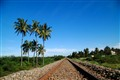 Rail Tracks with Blue Sky @ Bangalore Rural, India