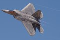 Lockheed Martin F-22 Raptor flyby in California.