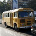 Just an old bus parked on an Armenian street.