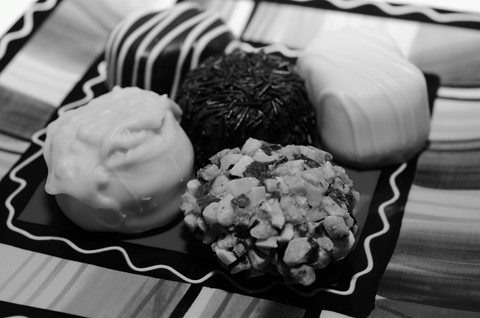 Candies in Black and White