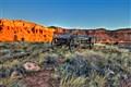 Wagon at Red River lodge Torrey Utah