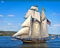 Short Ships greeting Tall Ship