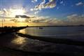 sunset pier flat