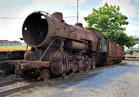 Rusty steam train, Roanoke, Va.