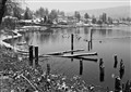 Lakefront Snow Scene