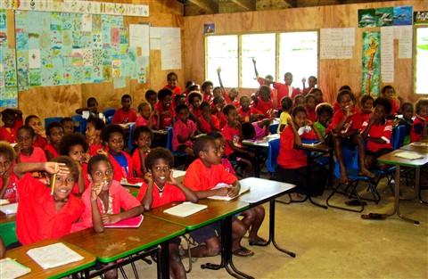 Schoolroom in Vanuatu