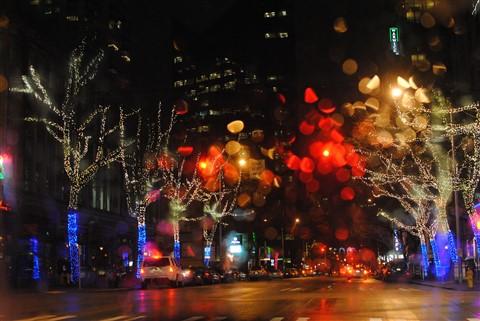 outdoor shot night christmas