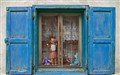 Blue Window and Dolls-1