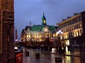Old Montreal on a rainy night