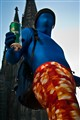 Blue man in Cologne