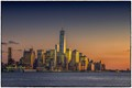 Sundown at Manhattan Skyline