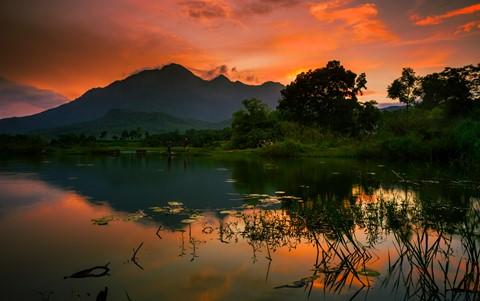 Vietnam Countryside Sunset
