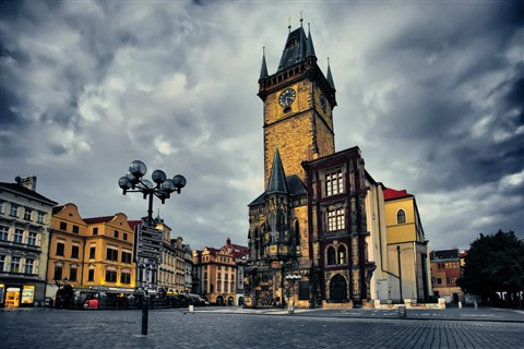 Prague Old Town Square at Dawn