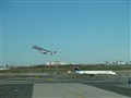 Take off at NYC LaGuardia Airport