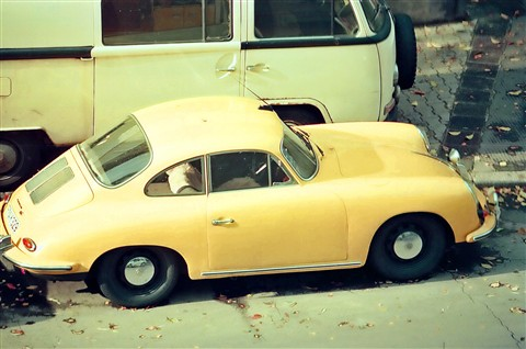 Porsche 356C and Volkswagen Bus