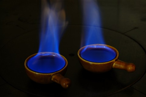 blue flame, tripod #2