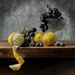 Lemons and Black Grapes