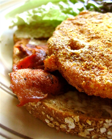 Fried green tomato BLT - small