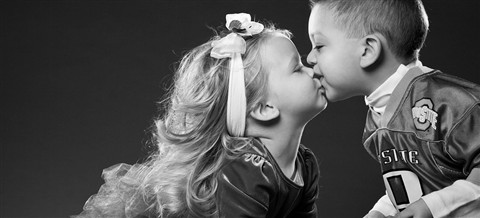 kissing babies