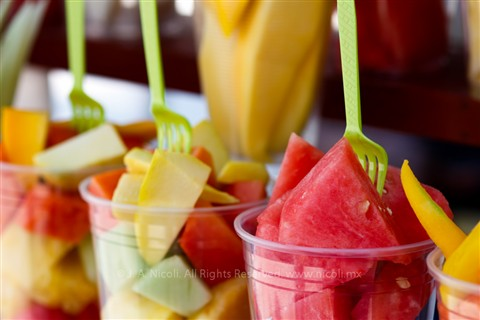 Assorted fruit close up