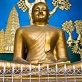 Smiling Budha, Peace Temple, Pokhara, Nepal