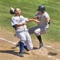 Collision at First Base