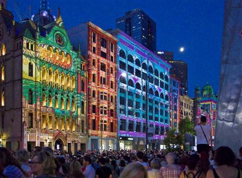 'White Night' Flinders St Melbourne