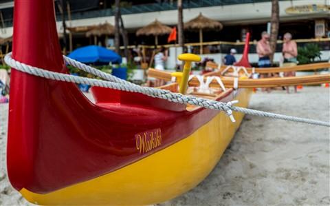 Outrigger Canoe in Waikiki