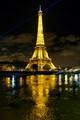 Eiffel tower on flooded Seine river