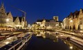 Ghent, Belgium, Leie River, between the Graslei and Korenlei quays