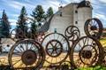 Dahman Barn Wheel Fence