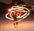 Siesta Key, Florida drum circle fire dancer.