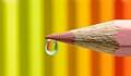 Pencils in water drop