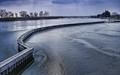 Austrias Neusiedler See freezes every winter