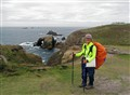 Arriving at Land's End after walking 1020 miles from John O'Groats