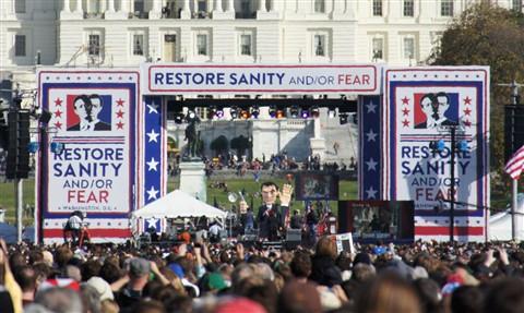 Stephen Colbert's giant puppet