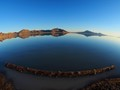 Olympus 8mm fisheye.  Flooded Great Salt Lake Desert