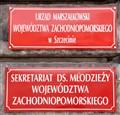 Sign in Szczecin