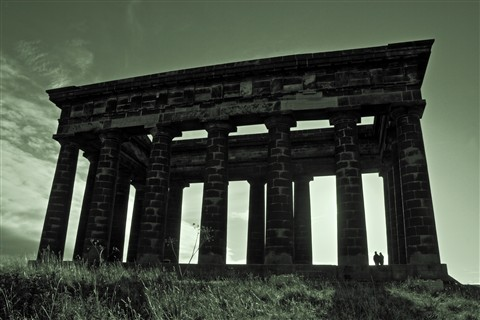 Penshaw Monument low