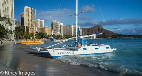 Catamarans on Waikiki Beach-2