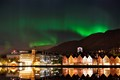 Northern Lights Over Bryggen