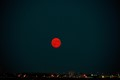 Moon rise over Calgary, Alberta