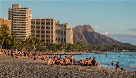 Waikiki Beach with 18-55mm lens