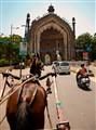 Travelling in a tanga (horse carriage) in Lucknow